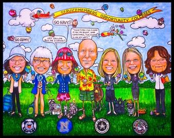 Custom caricature, retirement for men, portrait caricature, retirement for women, caricature portrait, retirement gift, retirement cartoon