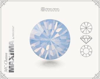 6 pc.+ SS39 (8mm) Preciosa MC Chaton MAXIMA - Light Sapphire Opal Color