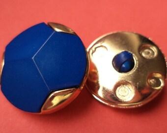 10 buttons blue gold 21mm (1645) button