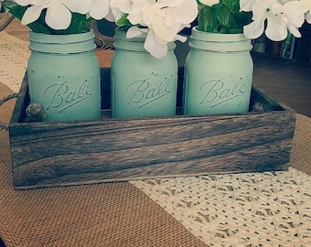 Mason Jars and tray