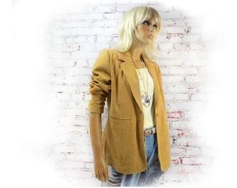camel jacket , women's jacket blazer , lined jacket , one button jacket , Ladies jacket ,   # 93