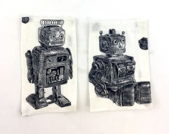 Handmade Custom Peel and Stick Robot Pockets
