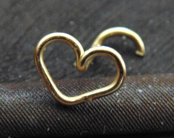Heart Nose Stud,heart nose ring,heart tragus,heart nose piercing