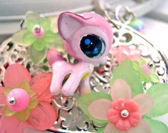 Deer Necklace kawaii pink Gothic lolita fairy kei