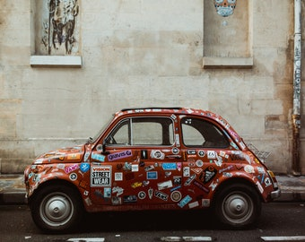 Car Covered in Stickers in Paris