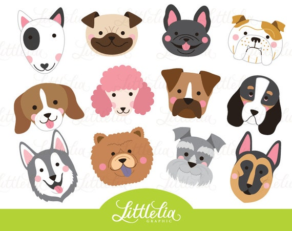 dog head clipart dog face clipart 16070 from littleliagraphic on rh etsystudio com puppy dog face clipart cute dog face clipart