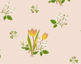 Kinder Pink Spring Blooms 43482-1 Fabric, cotton, Windham, Heather Ross