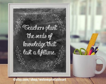 Teacher Classroom Decor, Teacher Gifts, Classroom Organization Decoration, Teacher Appreciation, End of the Year, Gifts for Teachers, Poster