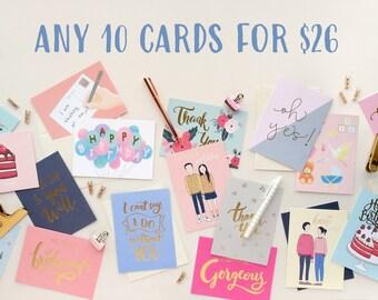 ANY 10 CARDS SET
