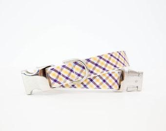 LSU Dog Collar - Gold and Purple