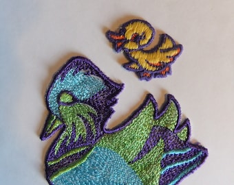 2 Vintage Duck Sew On Patches