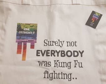 Geeky Custom Tote Bags/funny quotes