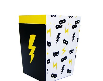 POPCORN BOXES. Theme superhero. Superhero Party. Children's party. Candy bar. Sweet table. Sweet buffet