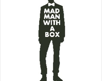 Buy 2 Get 1 Free-Doctor Who cross stitch pattern-PDF pattern-The Tardis-Mad Man With a Box-Best gift-Instant Download-P-73