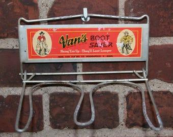 """Vintage """"vans"""" Boot Saver boots holder 1940"""