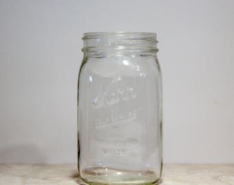 "Vintage Kerr ""Self Sealing"" Wide Mouth Jar 