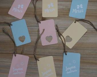 Set of 3 gift tags