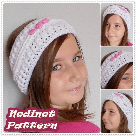 Crochet pattern, Crochet Headband pattern, Ear Warmer pattern ...