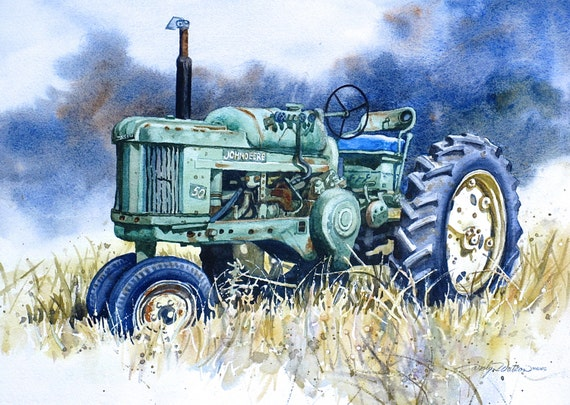 John Deere 50 Tractor Print Of Original Painting