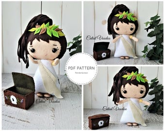 PDF PATTERN. Pandoras Box Greek Mythology Plush PDF Felt Pattern