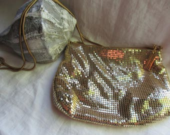 Vintage Whiting and Davis Gold Mesh Purse