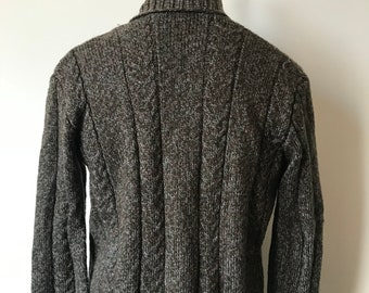 Vintage shawl collar sweater