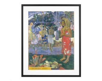 "Paul Gauguin ""Ia Orana Maria (Hail Mary)"" 1891 Post-Impressionist Oil Painting High Quality Print"
