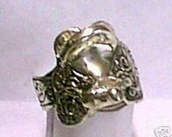 SADDLE Ring Sterling Silver Free Domestic Shipping
