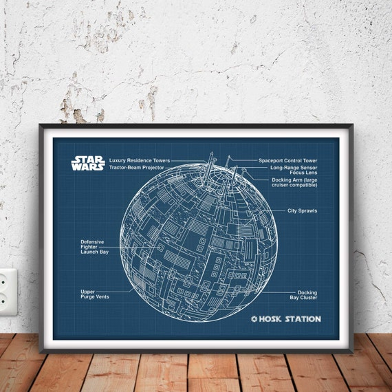 Hosk station poster star wars poster star wars blueprint hosk station poster star wars poster star wars blueprint star wars wall art star wars decor han solo chewbacca luke rebel 34005 malvernweather Gallery
