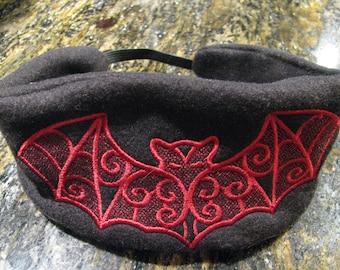 Black and Red Batty Headband