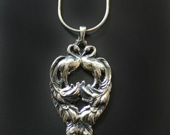 Vintage Inspired Peacock Necklace