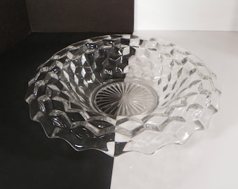 Fostoria Early American Elegant Glass Rolled Edge Centerpiece Console Bowl