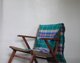 Plaid wool blanket | 100% lambswool blanket | made in Scotland | Johnstons of Elgin wool blanket | Able Shoppe
