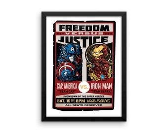 Freedom vs Justice Framed Poster