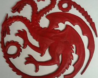 Game of Thrones inspired Targaryen dragon sigil