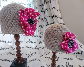 Like Mother like Daughter....Matching mom & daughter crocheted hats