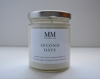 SECOND DATE // 9oz // natural soy candle // hand-poured // small batch