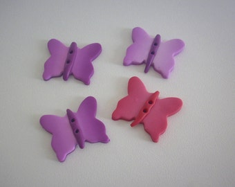 Fimo Butterfly - button made of fimo polymer clay buttons