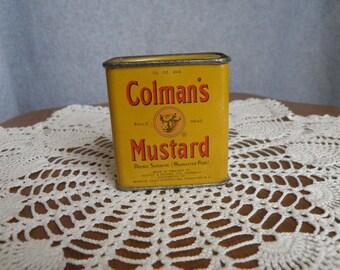Coleman's Bull's Head Mustard Tin