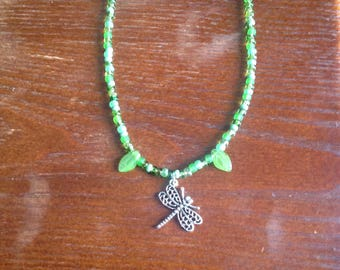 Handmade Dragonfly Necklace