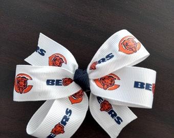 Chicago Bears hair bow