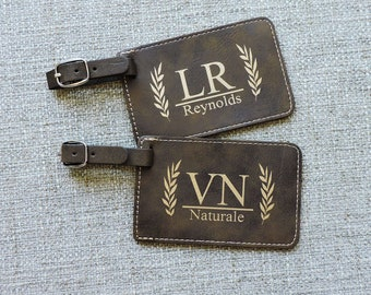 Luggage Tag personalized Rustic Luggage Tags, Monogramed luggage tags, bag tags