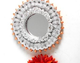 Wall Mirror, Silver Mirror, Small Wall Mirror, Rustic Wall Mirror, Accent Mirror,Small Silver Mirror,Small Rustic Mirror,Rustic Mirror,RM519