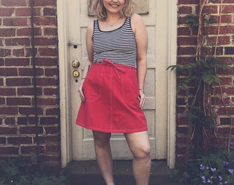 Orange 70's wrap-around skirt