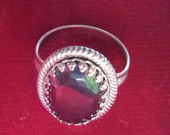 Hematitie and Sterling Ring sz. 7.5