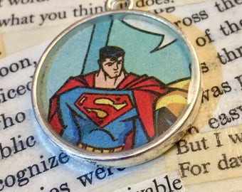 Superman Book Pendant