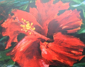 Red Hibiscus by Christian Riso