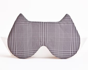 Sleep Mask, Mom Birthday Gift from Daughter, Gray Cat Mask, Travel Accessories, Cute Gift for Her, Cat Lover Gift, Lovely Eye Mask