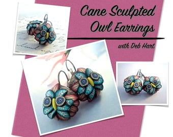 Tutorial - Cane Sculpted Owl Earrings