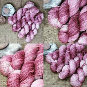 Mauve Tonal - Cashmere/Merino/Nylon - Home Spun Girls - hand dyed yarn - fingering weight